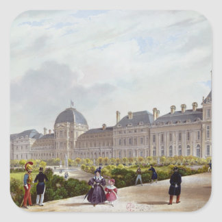 The Tuileries during the Restoration Square Sticker
