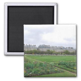 The Tuileries Garden, Paris France Square Magnet