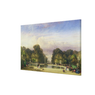 The Tuileries Gardens, with the Arc de Triomphe in Canvas Print