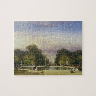 The Tuileries Gardens, with the Arc de Triomphe in Jigsaw Puzzle