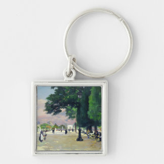 The Tuileries Silver-Colored Square Key Ring