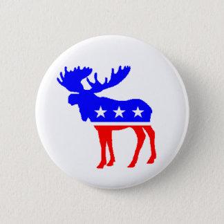 The Tuke Party Moose 6 Cm Round Badge