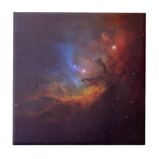 The Tulip in the Swan Nebula Wall Art Tile