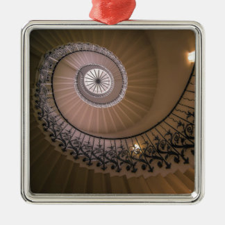 The Tulip Staircase, Queen's House at Greenwich Silver-Colored Square Decoration