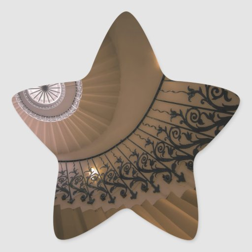 The Tulip Staircase, Queen's House at Greenwich Star Sticker