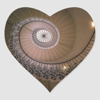 The Tulip Staircase, Queen's House at Greenwich Heart Sticker