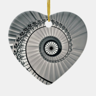 The Tulip Staircase, Queen's House Greenwich Ceramic Heart Decoration