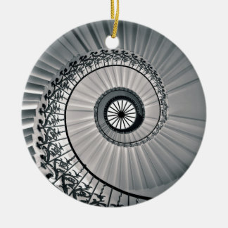 The Tulip Staircase, Queen's House Greenwich Round Ceramic Decoration