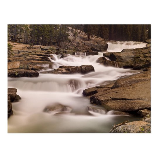 The Tuolumne River cascades over granite Postcard