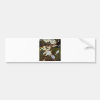 The Turkeys by Claude Monet Bumper Sticker