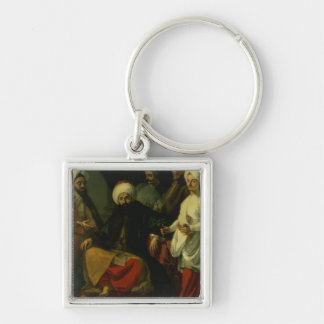 The Turkish Ambassador and his Entourage at the Co Silver-Colored Square Key Ring