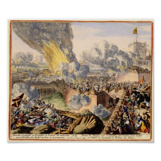 The Turkish Siege of Vienna 1683 Poster