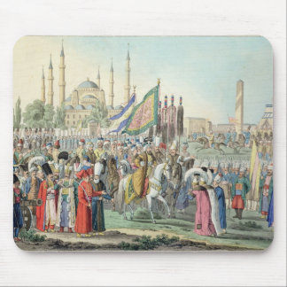 The Turkish Sultan reviewing his Janissaries (engr Mouse Mat