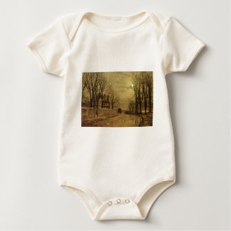 The Turn of the Road by John Atkinson Grimshaw Baby Bodysuit