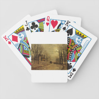 The Turn of the Road by John Atkinson Grimshaw Bicycle Playing Cards