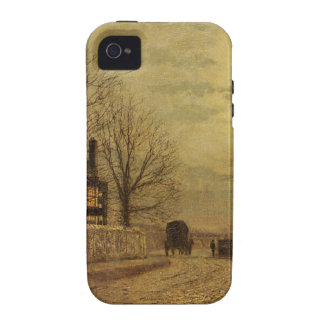 The Turn of the Road by John Atkinson Grimshaw iPhone 4 Case