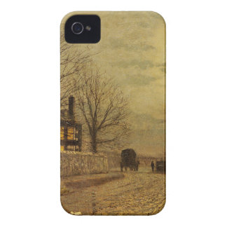 The Turn of the Road by John Atkinson Grimshaw iPhone 4 Case-Mate Case