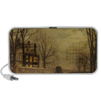 The Turn of the Road by John Atkinson Grimshaw iPhone Speaker