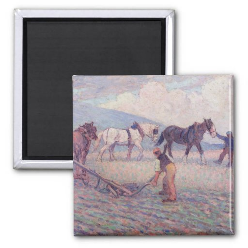 The Turn-Rice Plough, c.1909 (oil on canvas) Fridge Magnets