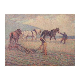The Turn-Rice Plough, c.1909 (oil on canvas) Wood Print