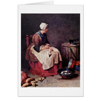 The Turnip Cleaner By Jean-Baptiste Chardin Card