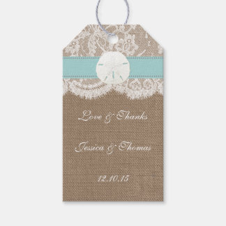 The Turquoise Sand Dollar Beach Wedding Collection Gift Tags