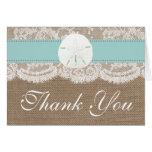 The Turquoise Sand Dollar Beach Wedding Collection Note Card