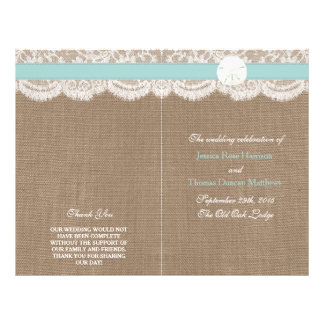 The Turquoise Sand Dollar Wedding Collection Flyer