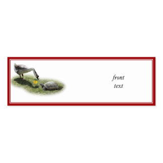 The Turtle & The Goose (Add Your Text) Pack Of Skinny Business Cards