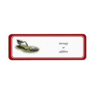 The Turtle & The Goose (Add Your Text) Return Address Label