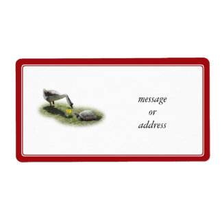 The Turtle & The Goose (Add Your Text) Shipping Label