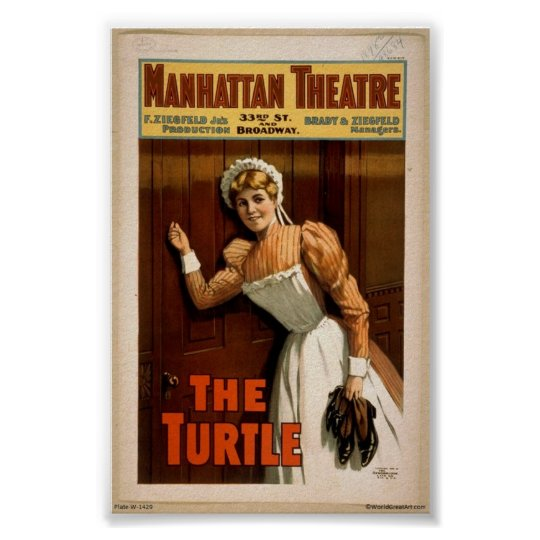 """""""The Turtle"""" Vintage 1900's Poster"""