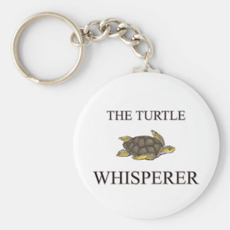 The Turtle Whisperer Basic Round Button Key Ring