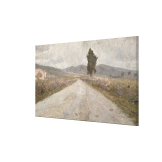 The Tuscan Road, c.1899 (board) Canvas Print