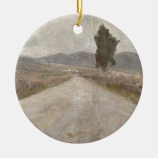 The Tuscan Road, c.1899 (board) Round Ceramic Decoration