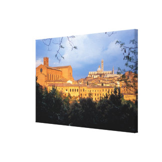 The Tuscan village of Sienna, Italy. Canvas Print