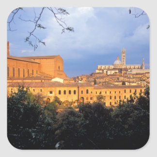 The Tuscan village of Sienna, Italy. Square Sticker