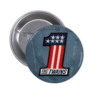 The TWAINS 1 Up Button! 6 Cm Round Badge