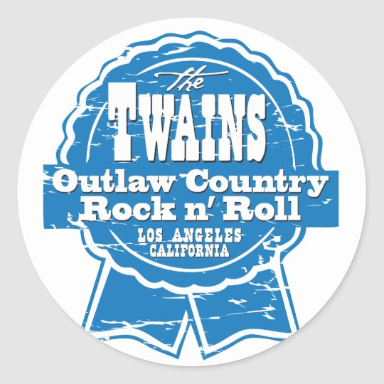 The TWAINS beer drinkin' stickers! Classic Round Sticker