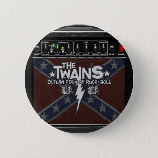 The TWAINS Dixie Amp Button! 6 Cm Round Badge