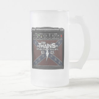 The TWAINS Dixie Amp Frosted Mug! Frosted Glass Mug