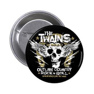 The TWAINS Skull n' Horseshoe Button