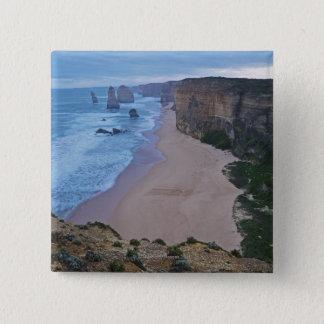 The Twelve Apostles, Great Ocean Road 2 15 Cm Square Badge