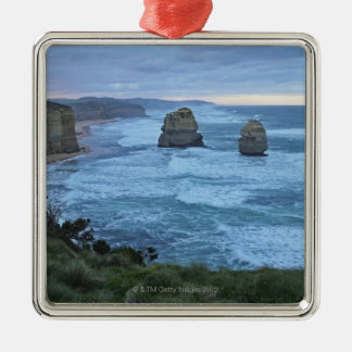 The Twelve Apostles, Great Ocean Road Silver-Colored Square Decoration