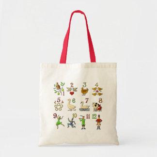 The Twelve Days of Christmas Tote Bag