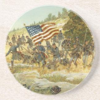 The Twentieth Maine by H. Charles McBarron Sandstone Coaster