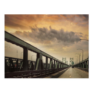 The Twin Bridges over the Mississippi Postcard