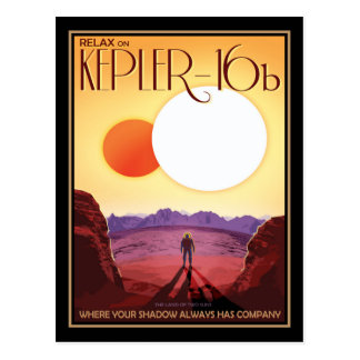 The Twin Suns of Kepler-16b Postcard