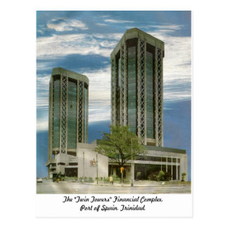 """The """"Twin Towers"""" Port of Spain, Trinidad Postcard"""