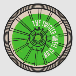 The Twisted Wheel Club Classic Round Sticker